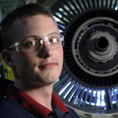 Pratt & Whitney Engine Services, Inc., which is located at the North Central West Virginia Airport in Bridgeport, WV, provides full overhaul and repair services for a variety of jet engines.  Industrial Portraiture by Alex Wilson.