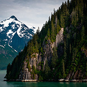 Cruising in Tracy Arm Fjord near Juneau, AK.  Landscape Photograpy by Alex Wilson.