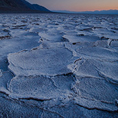 The saltflats in Badwater Basin in Death Valley National Park, CA.  National Park Photograpy by Alex Wilson.