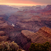 Sunset at Grand Canyon National Park, AZ.  National Park Photograpy by Alex Wilson.