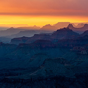 Sunset at Grand Canyon National Park, AZ.  Landscape Photograpy by Alex Wilson.