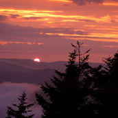 Sunset photographed from Snowshoe Resort in Pocahontas County, West Virginia.  Landscape Photograpy by Alex Wilson.