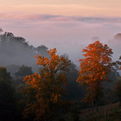 Sunrise on top of Red House Ridge in Putnam County, West Virginia.  Landscape Photograpy by Alex Wilson.