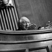 Ken Salazar (D-Colorado) questioning witnesses in a Subcommittee on Energy, Natural Resources, and Infrastructure hearing in the Dirksen Senate Office Building in Washington, D.C.  Event Photography by Alex Wilson